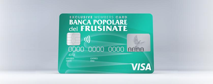 Carta di credito soci Bpf - Banca Popolare del Frusinate